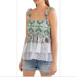 Tory Burch Garden Party floral silk lace top
